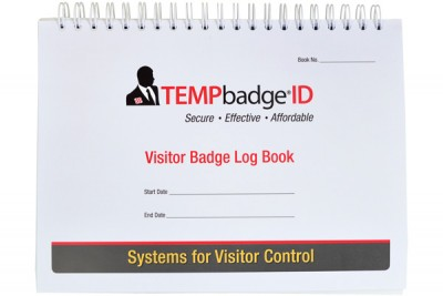 Visitor Badge & Log Book (240 badges) - 20 pages