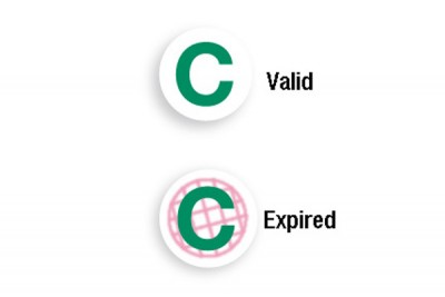 "Green ""C"" Expiring TIMEspot Frontpart Indicator - One-Day Expiration (1000/Pkg)"