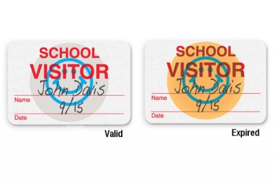 "Manual School Badge ""SCHOOL VISITOR"" (1000/Pkg)"