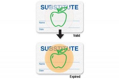 "Manual School Badge""SUBSTITUTE"" (1000/Pkg)"
