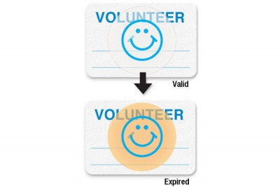 "Manual School Badge""VOLUNTEER"" (1000/Pkg)"