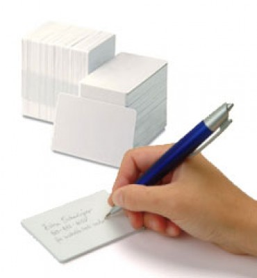 Zebra 104523-117 White PVC Cards with Writeable Back - 500 Cards