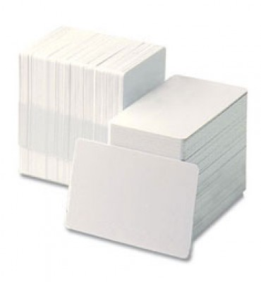 Zebra 104524-106 PVC/POLY Composite White Blank Cards - 500 Cards