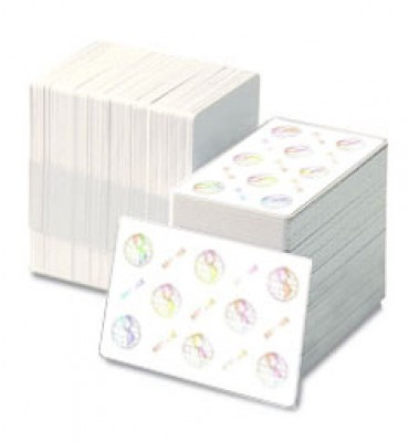 Zebra 104524-120 Composite PVC Cards with WORLD GLOBE Hologram