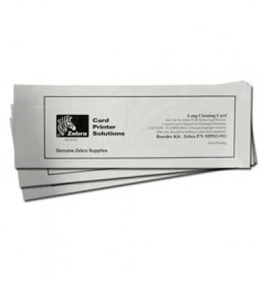 Zebra 105912G-707 P330i 50 Long Cleaning Cards, Qty 50 (Replaces 105912-707)