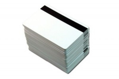 "80/20 PVC/Polyester Low Coercivity PVC Cards with 1/2"" LOCO Magnetic Stripe (500/Box)"