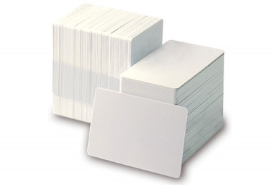 Adhesive-Backed Blank 10 mil PVC Cards (500/Box)