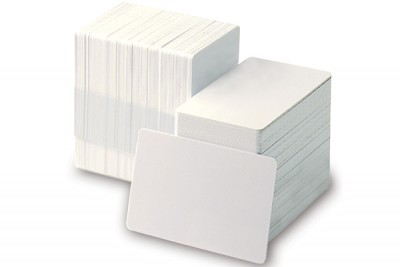 Adhesive-Backed Blank 10 mil Sub Credit Card Size PVC Cards (500/Box)