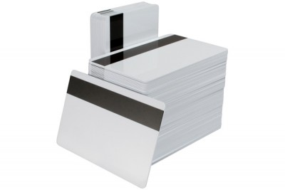 "60/40 PVC/Polyester Low Coercivity PVC Cards with 1/2"" LOCO Magnetic Stripe (500/Box)"