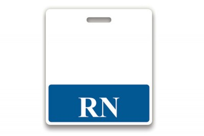 Blue RN Horizontal Badge Buddies (25/Box)