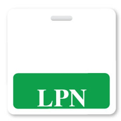 Green LPN Horizontal Badge Buddies (25/Box)