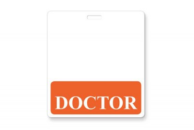 Orange Doctor Horizontal Badge Buddies (25/Box)