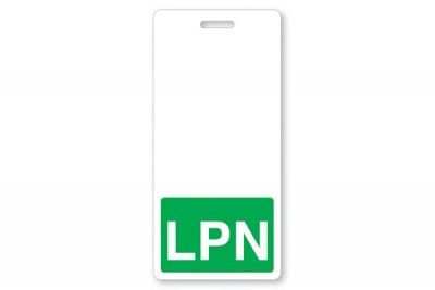Green LPN Vertical Badge Buddies (25/Box)
