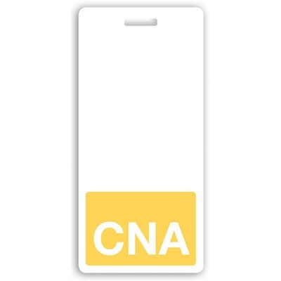 Yellow CNA Vertical Badge Buddies (25/Box)