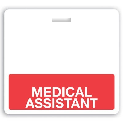 "Red ""Medical Assistant"" Horizontal Badge Buddies (25/Box)"