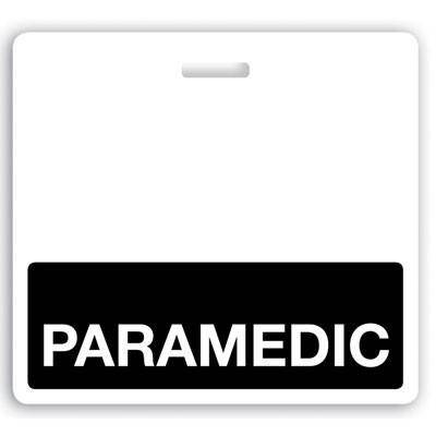 "Black ""Paramedic"" Horizontal Badge Buddies (25/Box)"