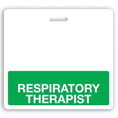 "Green ""Respiratory Therapist"" Horizontal Badge Buddies (25/Box)"