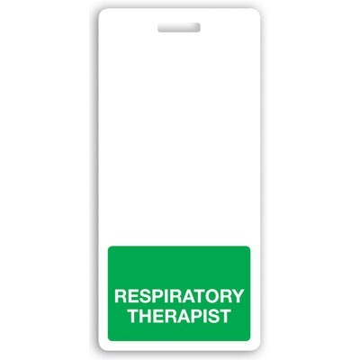 "Green ""Respiratory Therapist"" Vertical Badge Buddies (25/Box)"