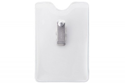 Vertical Brady Clothing-Friendly� Clip Data/Credit Card Size Badge Holder (100/Pkg)