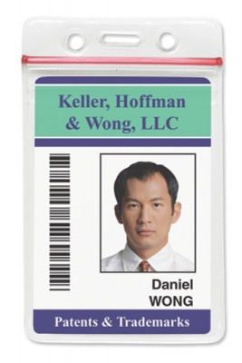 Vertical Badge Holder w/ Resealable Top Data/Credit Card Size (100/Box)