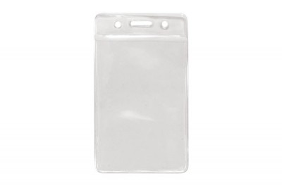 Vertical Badge Holder w/ Clear Color Bar Data/Credit Card Size (100/Box)