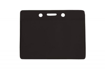Horizontal Badge Holder w/ Black Colored Back- Data/Credit Card Size (100/Box)