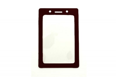 Vertical Badge Holder w/ Black Color Frame- Credit Card Size (100/Box)