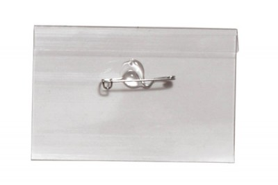 "Name Tag Holder w/ Nickel Plated Steel Pin - 2-1/4"" X 3-1/2"" (100/Box)"