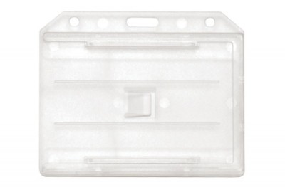 Clear Horizontal Open-Face Rigid Multi-Card Holder (50/Box)