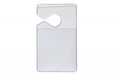 Clear Vertical Hang Tag Holder (100/Box)