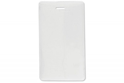 Back Vertical Frosted Proximity Card Holder (100/Box)