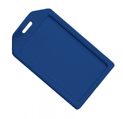 Blue Rigid Plastic Luggage Tag Holder (100/Pkg)