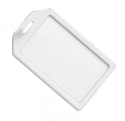 White Rigid Plastic Luggage Tag Holder (100/Pkg)