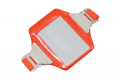 Neon Orange Vertical Arm Band Badge Holder (100/Box)