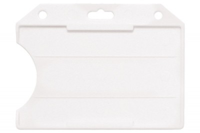 Frosted Horizontal Open-Face Semi-Rigid Card Holder (50/Box)