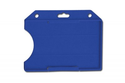 Blue Horizontal Open-Face Semi-Rigid Card Holder (50/Box)