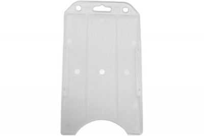 Vertical Frosted Open-Face Semi-Rigid Card Holder (50/Box)