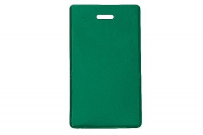 Green Semi-Rigid Vinyl Luggage Tag Holder (100/Pkg)