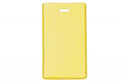 Yellow Semi-Rigid Vinyl Luggage Tag Holder (100/Pkg)