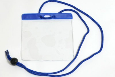 Blue Badge Holder w/ Neck Cord Extra Large (100/Box)