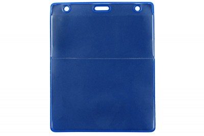 Royal Blue Vertical Event Vinyl Credential Wallet w/ Slot & Chain Holes (100/Box)