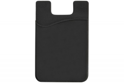 Black Silicone Cell Phone Wallet (100/Box)