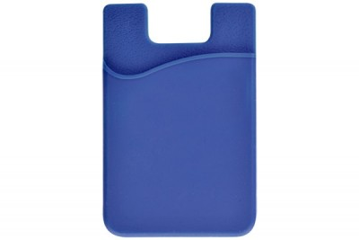 Blue Silicone Cell Phone Wallet (100/Box)