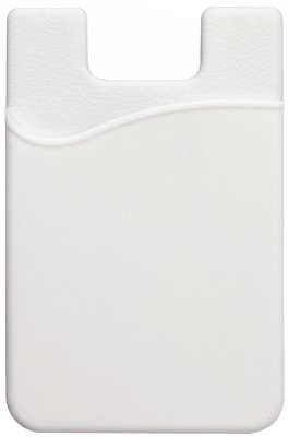 White Silicone Cell Phone Wallet (100/Box)
