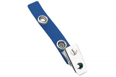 Blue 2-Hole Colored Strap Clip (100/Pkg)