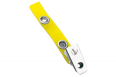 Yellow 2-Hole Colored Strap Clip (100/Pkg)