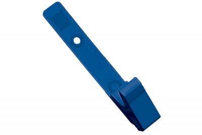 Royal Blue Plastic Strap Clip with Knurled Thumb-Grip (100/Pkg)