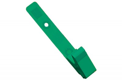 Green Plastic Strap Clip with Knurled Thumb-Grip (100/Pkg)