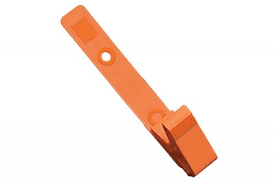 Orange Plastic Strap Clip with Knurled Thumb-Grip (100/Pkg)