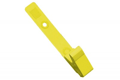 Yellow Plastic Strap Clip with Knurled Thumb-Grip (100/Pkg)